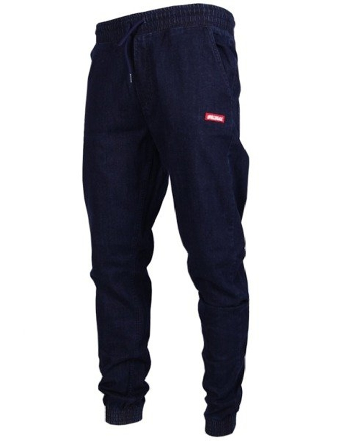 Spodnie Illegal Jogger Slim jeans Small Red dark blue