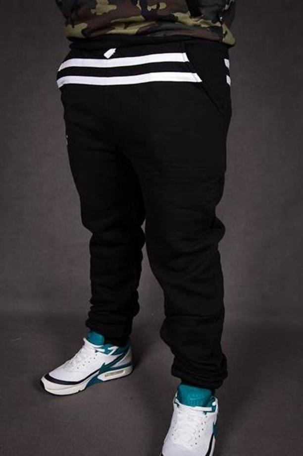 sprzedaż usa online duża zniżka kup tanio Spodnie dres El Polako stripes fit czarne
