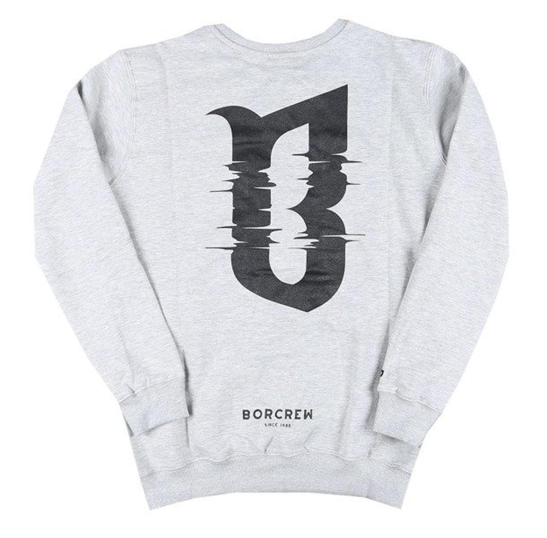 najlepsze trampki sklep świetne ceny Bluza BOR Glitch bez kaptura gray