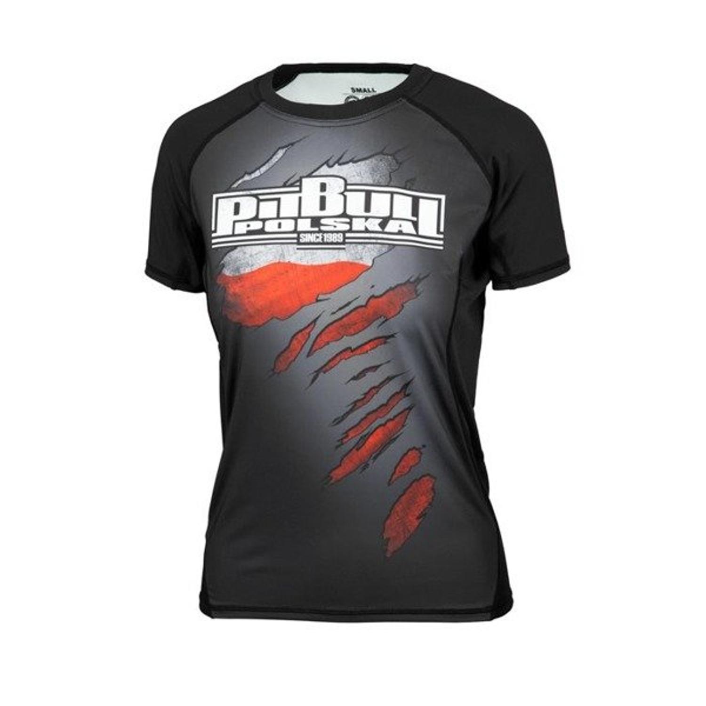 389e9689ba2437 Koszulka rashguard damska Pit Bull Mesh Performance Pro Plus Polska black -  Producent: PITBULL - Cena: - DAMSKIE Odzież Sportowa - Sklep internetowy  Patshop