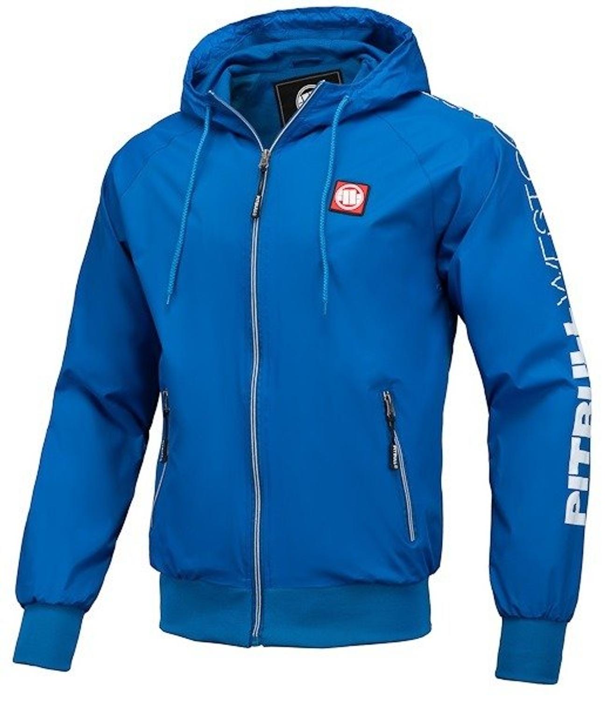 Kurtka wiosenna Pit Bull Athletic Sleeve Nylon Jacket wiatrówka royal blue