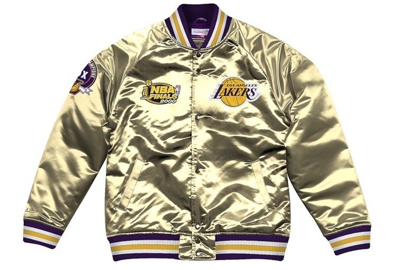 Kurtka Zimowa Mitchell Ness Los Angeles Lakers Championship Game Satin Jacket Gold Producent Mitchell Ness Cena Kurtki Jesien Zima Sklep Internetowy Patshop