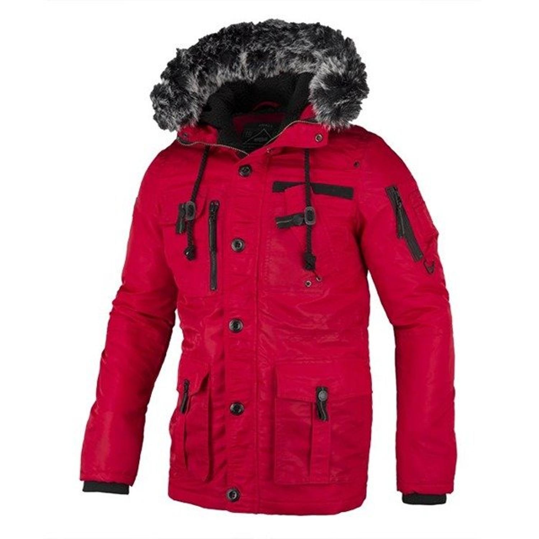 17400930 Kurtka zimowa Pit Bull Rowcliff parka red