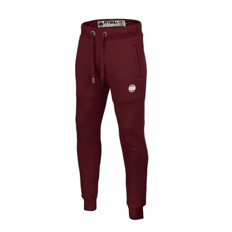 Spodnie dresowe Pit Bull Small Logo burgundy