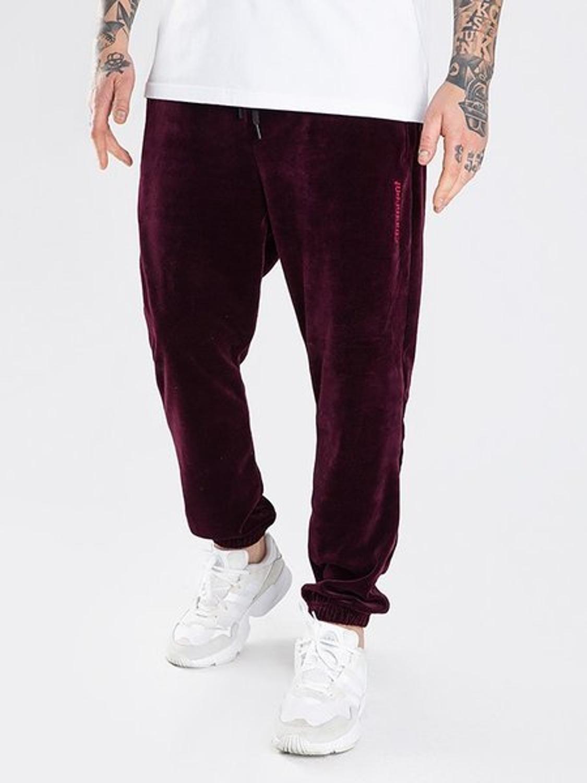 Spodnie dresowe jogger Stoprocent Terry burgundy
