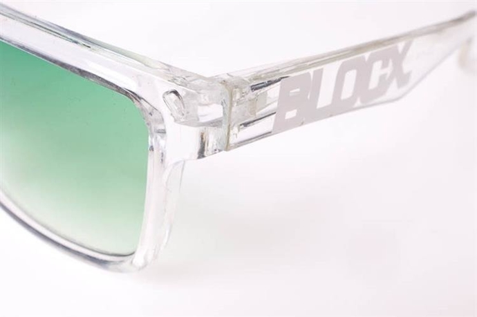 Blocx Okulary Square Clear Green #21
