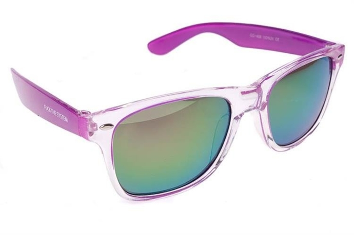 Blocx Okulary Square Clear Purple #22