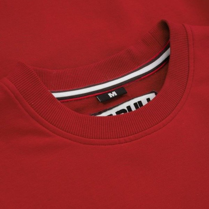 Bluza Pit Bull Small Logo French Terry crewneck red