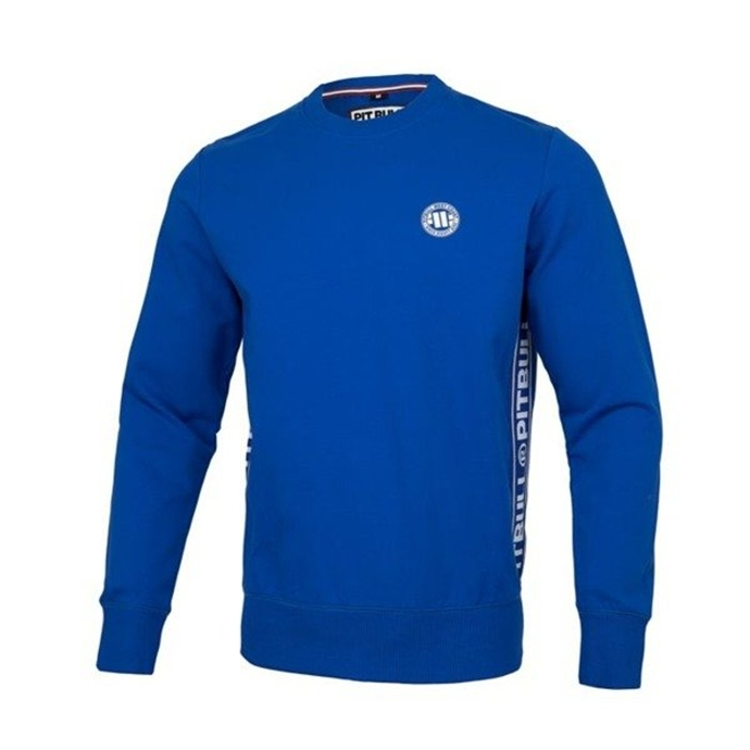 Bluza Pit Bull Small Logo French Terry crewneck royal blue