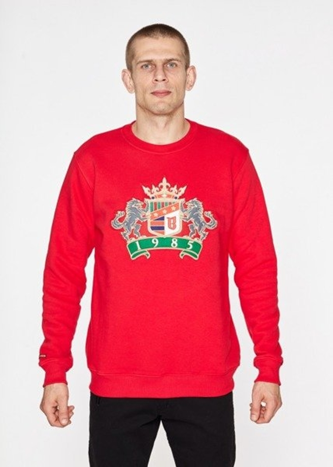 Bluza bez kaptura BOR New Herb crewneck red