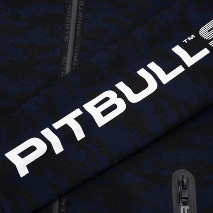 Bluza rozpinana z kapturem Pitbull Logan navy/black camo