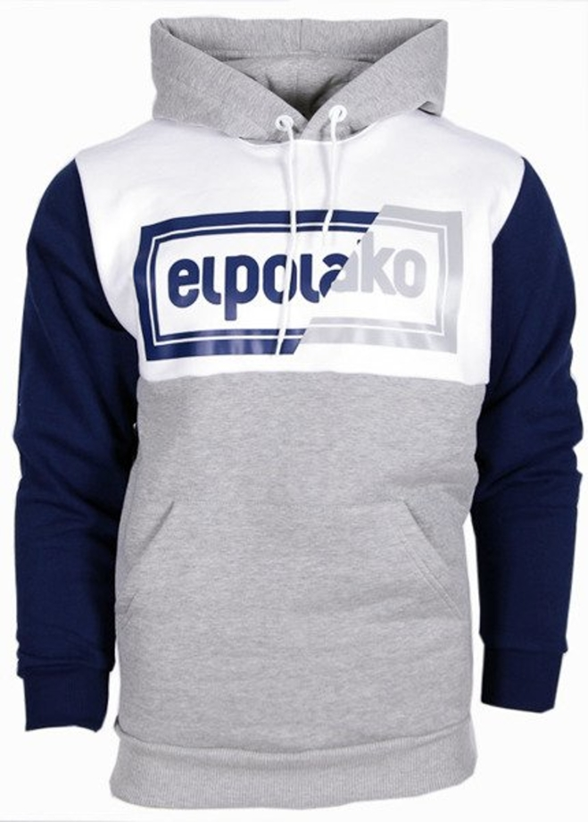 Bluza z kapturem El Polako Cut Color hoody grey/navy