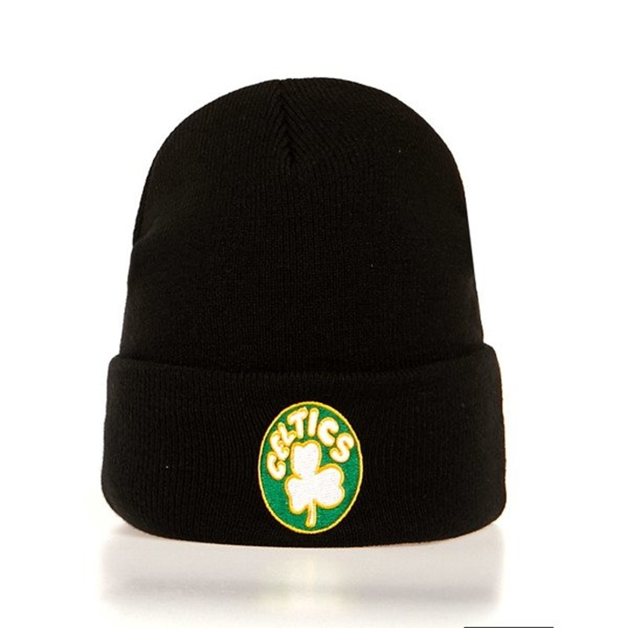 Czapka zimowa Mitchell & Ness Team Logo Cuff Knit Boston Celtics black