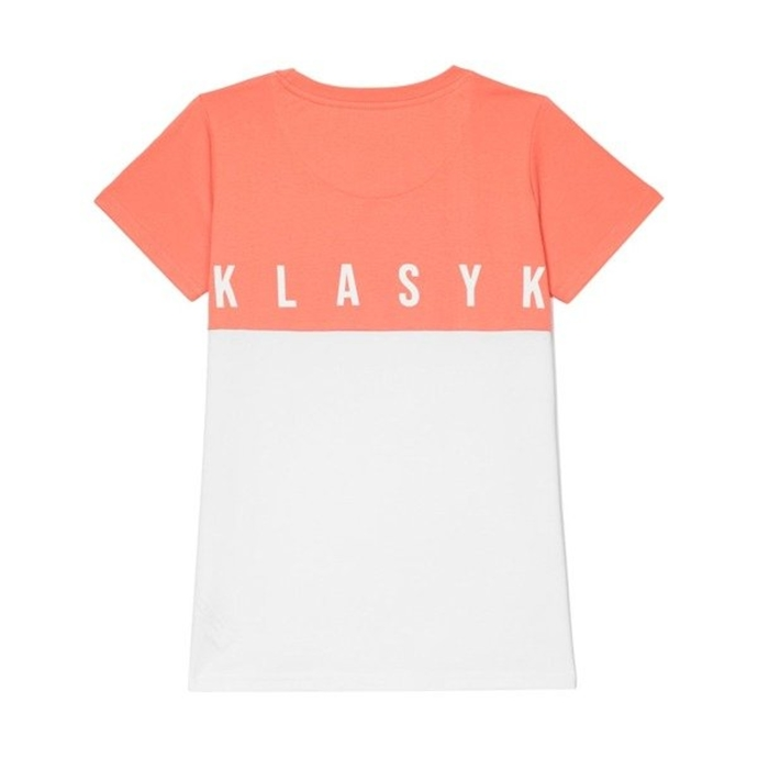 Koszulka T-Shirt damski Prosto Klasyk Pudding white/light pink