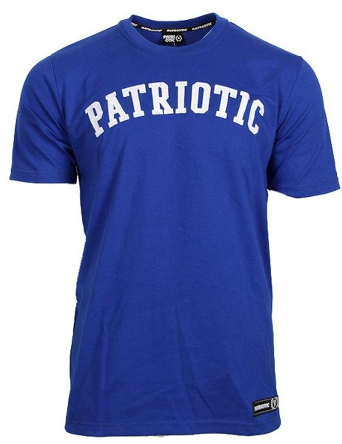 Koszulka T-shirt Patriotic Patch blue