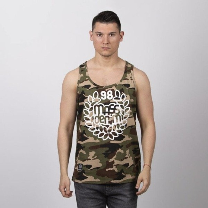 Koszulka Tank Top Mass Dnm Base woodland camo