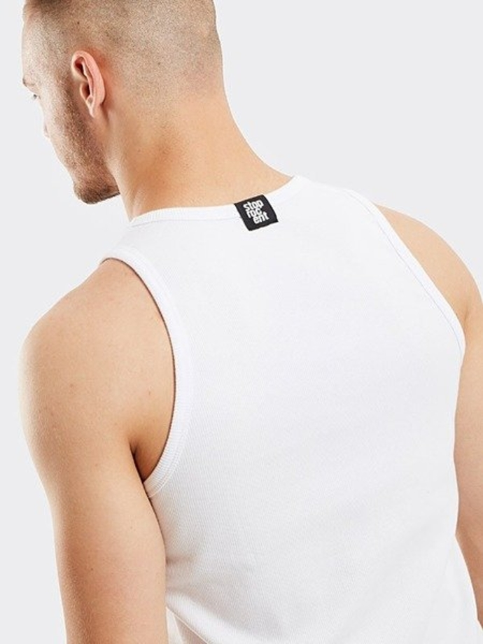 Koszulka Tank top Stoprocent RIBB tag19 white
