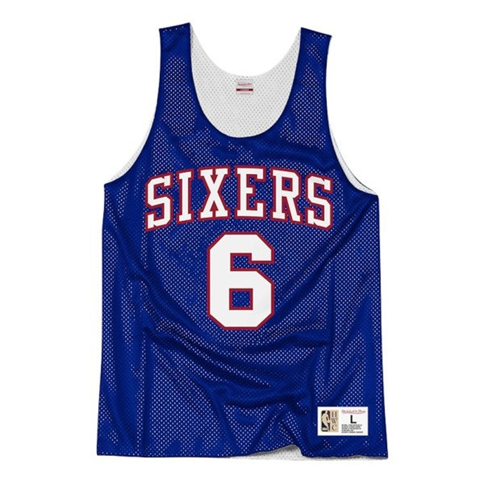 Koszulka dwustronna Tank Top Mitchell & Ness Philadelphia 76ers Erving #6 white/blue
