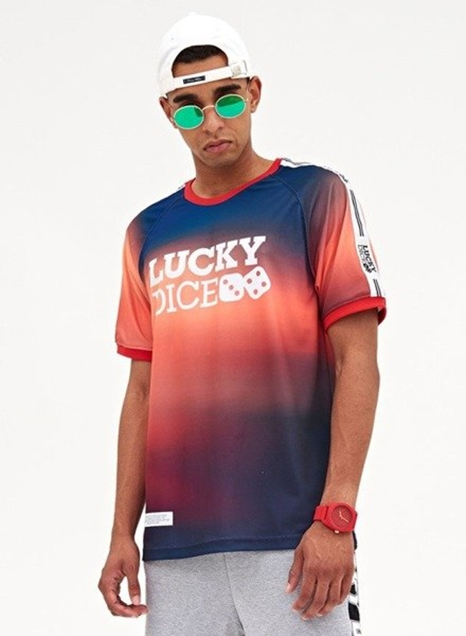 72ea7a501 Koszulka t-shirt Lucky Dice Tape SE Defocused navy/orange