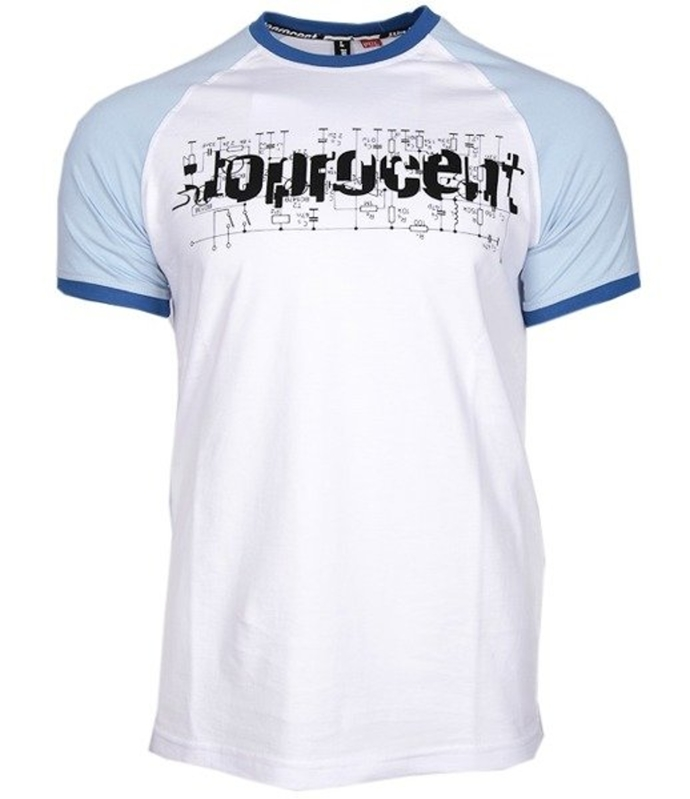 Koszulka t-shirt Stoprocent Electro white/blue