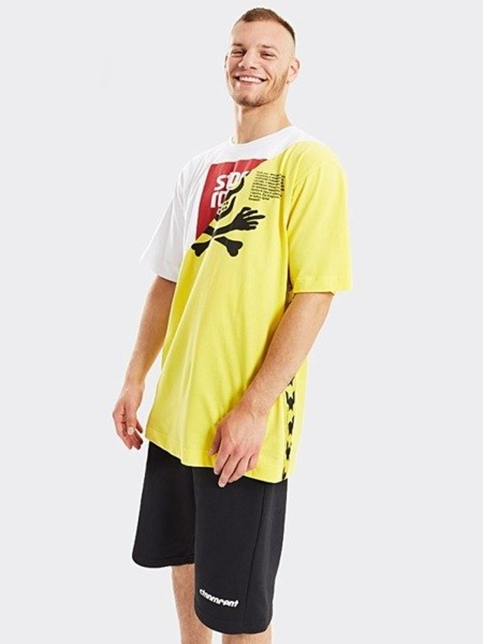 Koszulka t-shirt Stoprocent Toxicated white/yellow