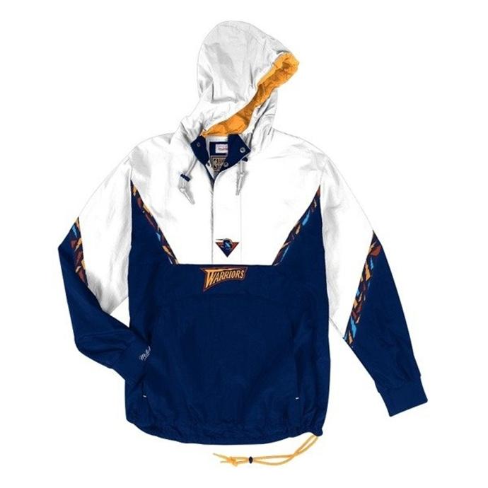 c0780dfaac74a Kurtka wiosenna Mitchell & Ness Golden State Warriors Half Zip Team Colour  Anorak white/navy