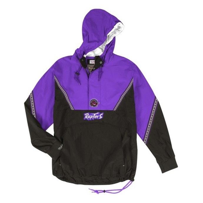 d3394c227adab Kurtka wiosenna Mitchell & Ness Toronto Raptors Half Zip Team Colour Anorak  black/violet