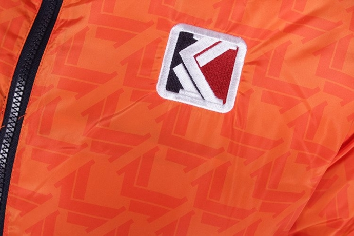 Kurtka zimowa dwustronna Karl Kani Retro Puffer jacket orange/navy