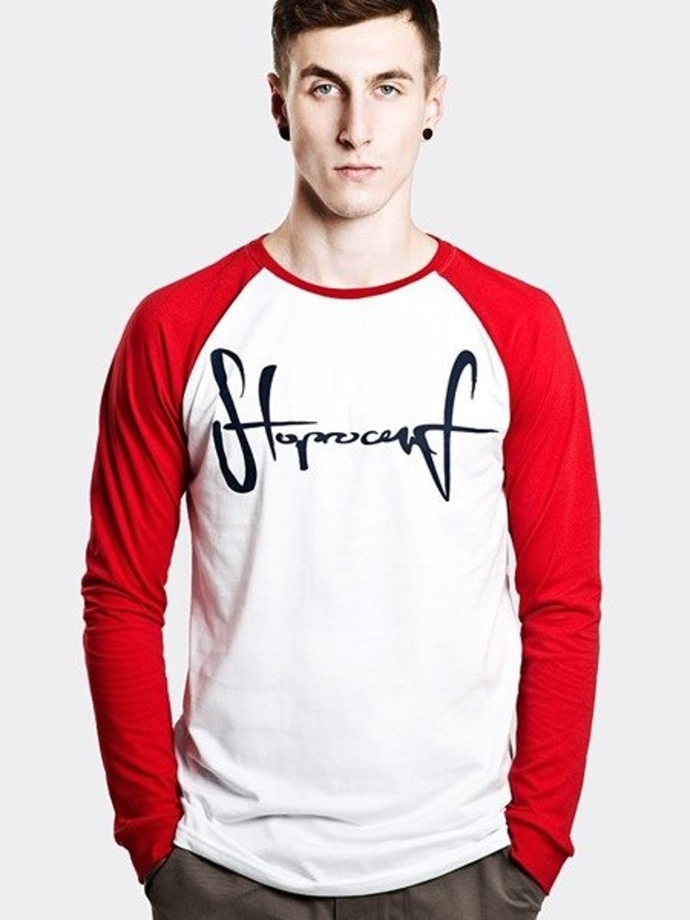 Longsleeve Storpocent TAG17 white/red