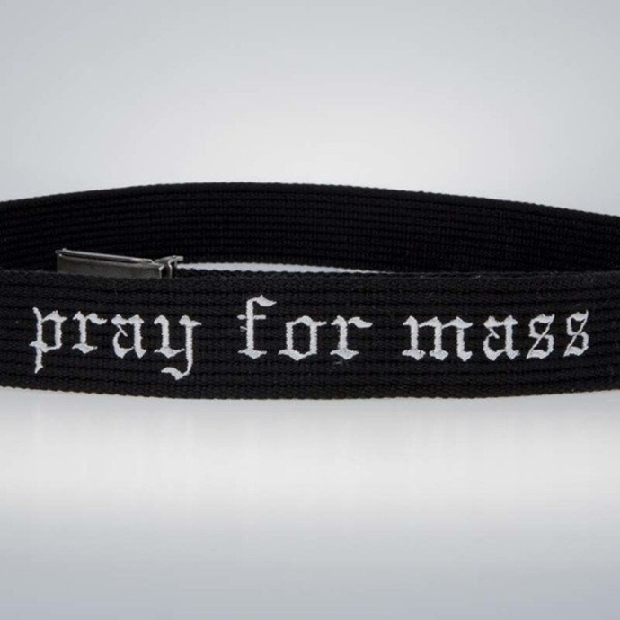 Pasek Mass Denim Plate belt black
