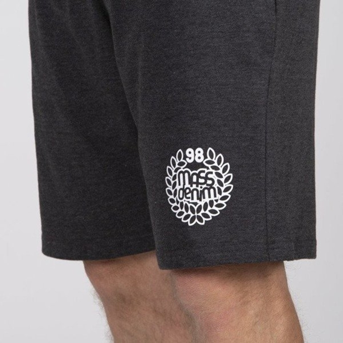 Spodenki Szorty Mass Denim Sweatshorts Base dark grey