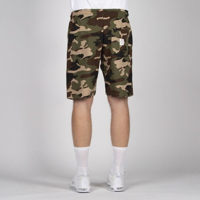 Spodenki Szorty Mass Denim Sweatshorts Base woodland camo