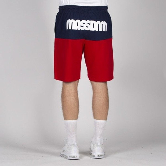 Spodenki Szorty Mass Denim Sweatshorts Separate navy/red