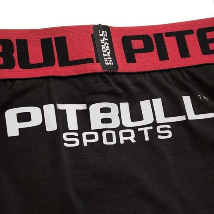 Spodenki kompresyjne Pit Bull Compression Pro Plus black/neon red