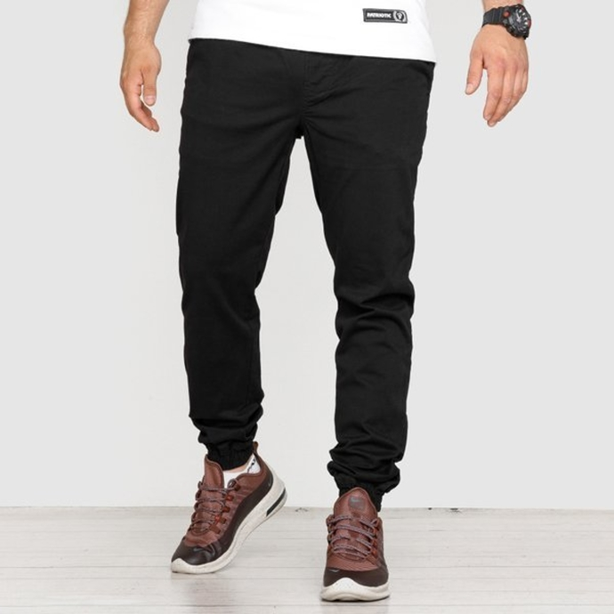 Spodnie Jogger High Life HL Haft chino black