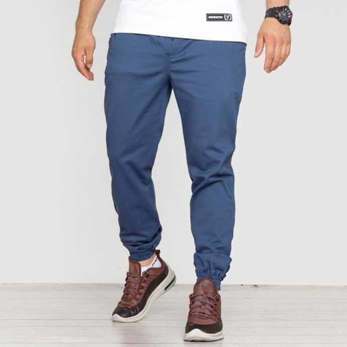 Spodnie Jogger High Life HL Haft chino dark blue