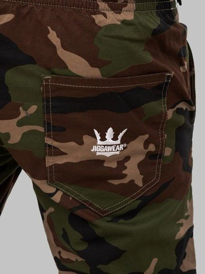 Spodnie jogger Jigga Wear Crown Woodland camo