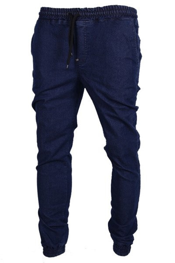 Spodnie jogger Moro Sport Big Tag Leather blue