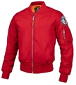 Kurtka wiosenna Pit Bull MA-1 Flight bomberka jacket red