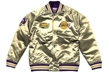 Kurtka zimowa Mitchell & Ness Los Angeles Lakers Championship Game Satin Jacket gold